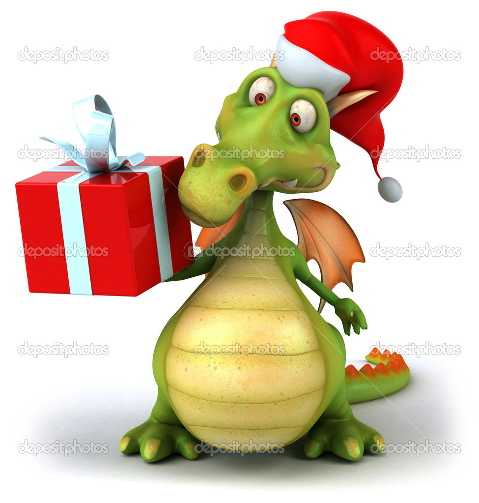 Christmas Dragon.Image Christmas Dragon Christmas Dragon 3d Illustration