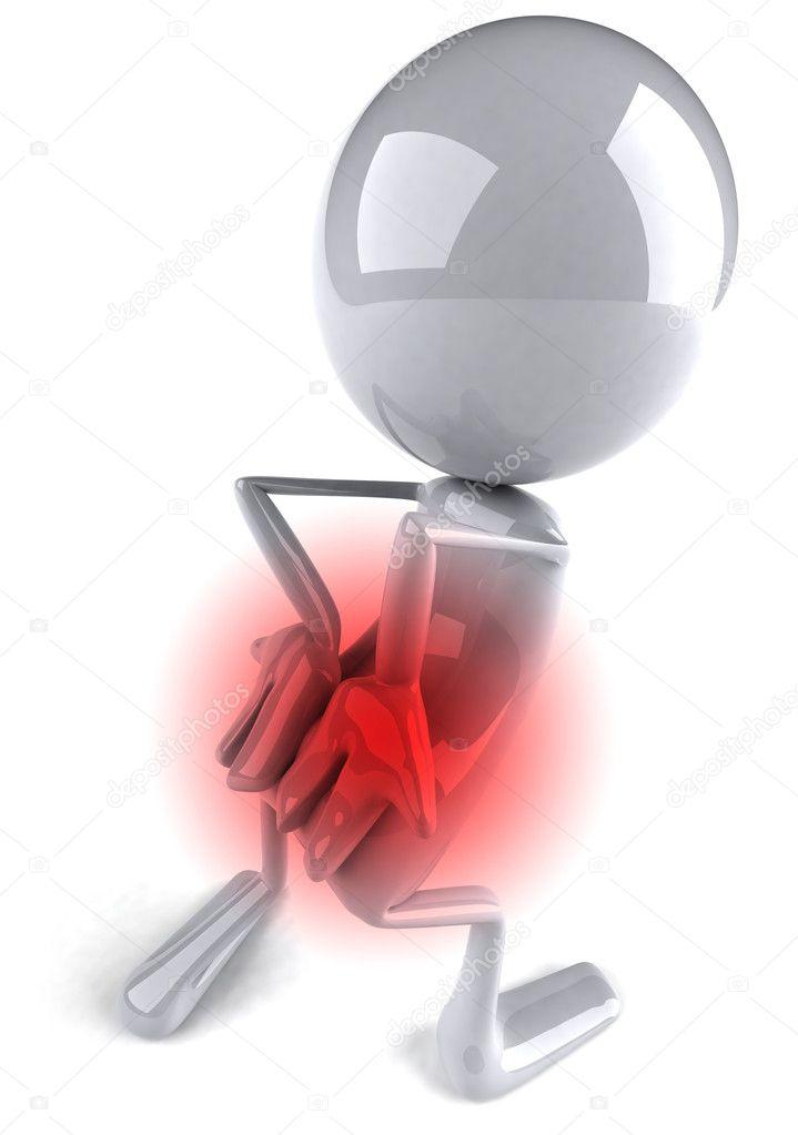 dolor de espalda — Foto de stock © julos #4383374