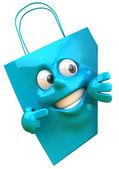 Nákupní taška 3d ilustrace