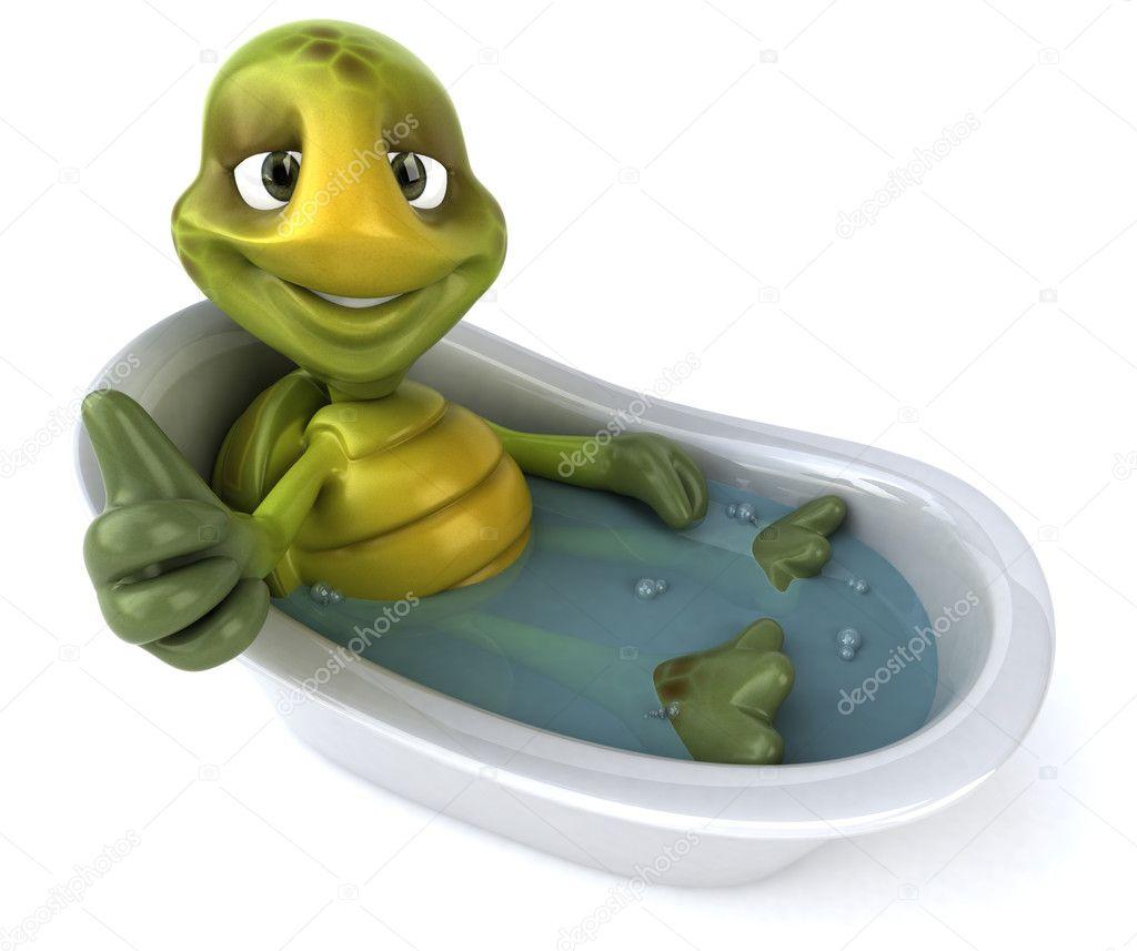 Turtle In Bath 3d Illustration Stock Photo 169 Julos 4401274