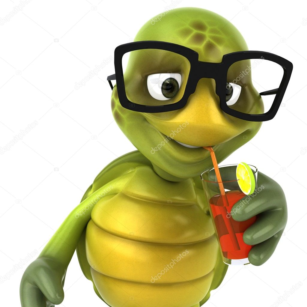 Animated Turtle With Glasses Turtle In Glasses 3d Illustration