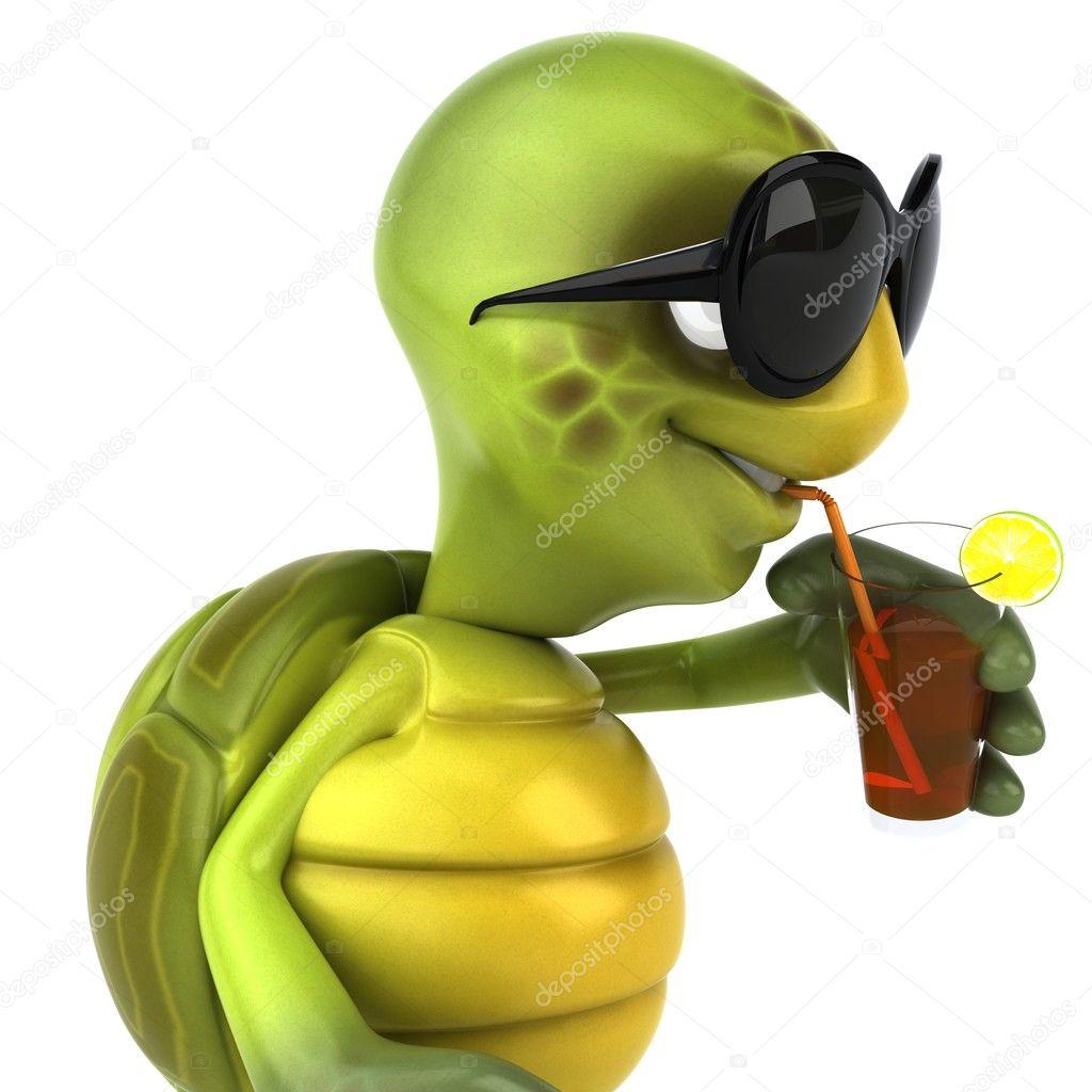 Turtle in sunglasses 3d illustration — Stock Photo © julos ...