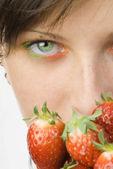Fotografie Das Erdbeere aussehen