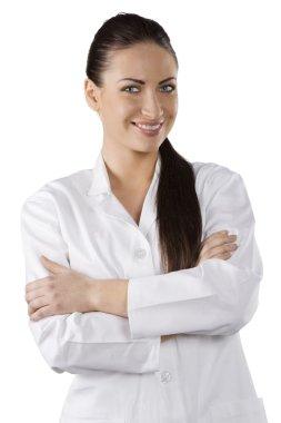 Pretty doctor woman