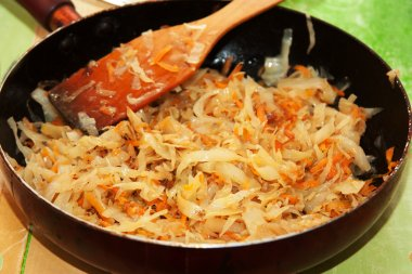 Cabbage in the pan