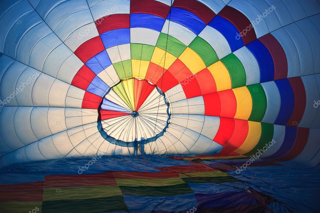 Inside hot air baloon
