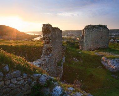 Crimean ancient fortress sunset view (Ukraine)