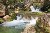 cascate sul fiume di montagna