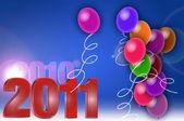 Vesele oslavují balónky, vzít si Vánoce a šťastný nový Ano