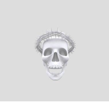 Forks Crown On Skull Head
