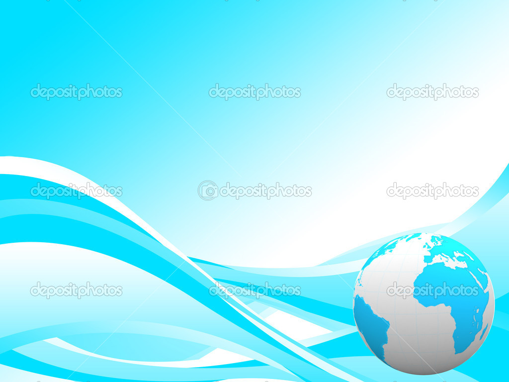 beautiful earth on lovely swirl background � stock photo