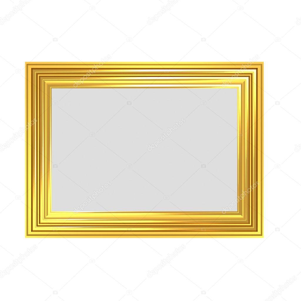 Gestreifte goldener Rahmen — Stockfoto © baavli #5242581