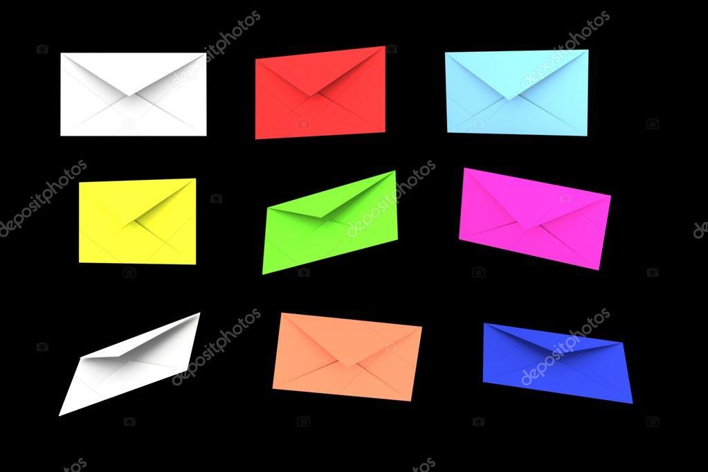 sobres de carta color — Foto de stock © baavli #5242648