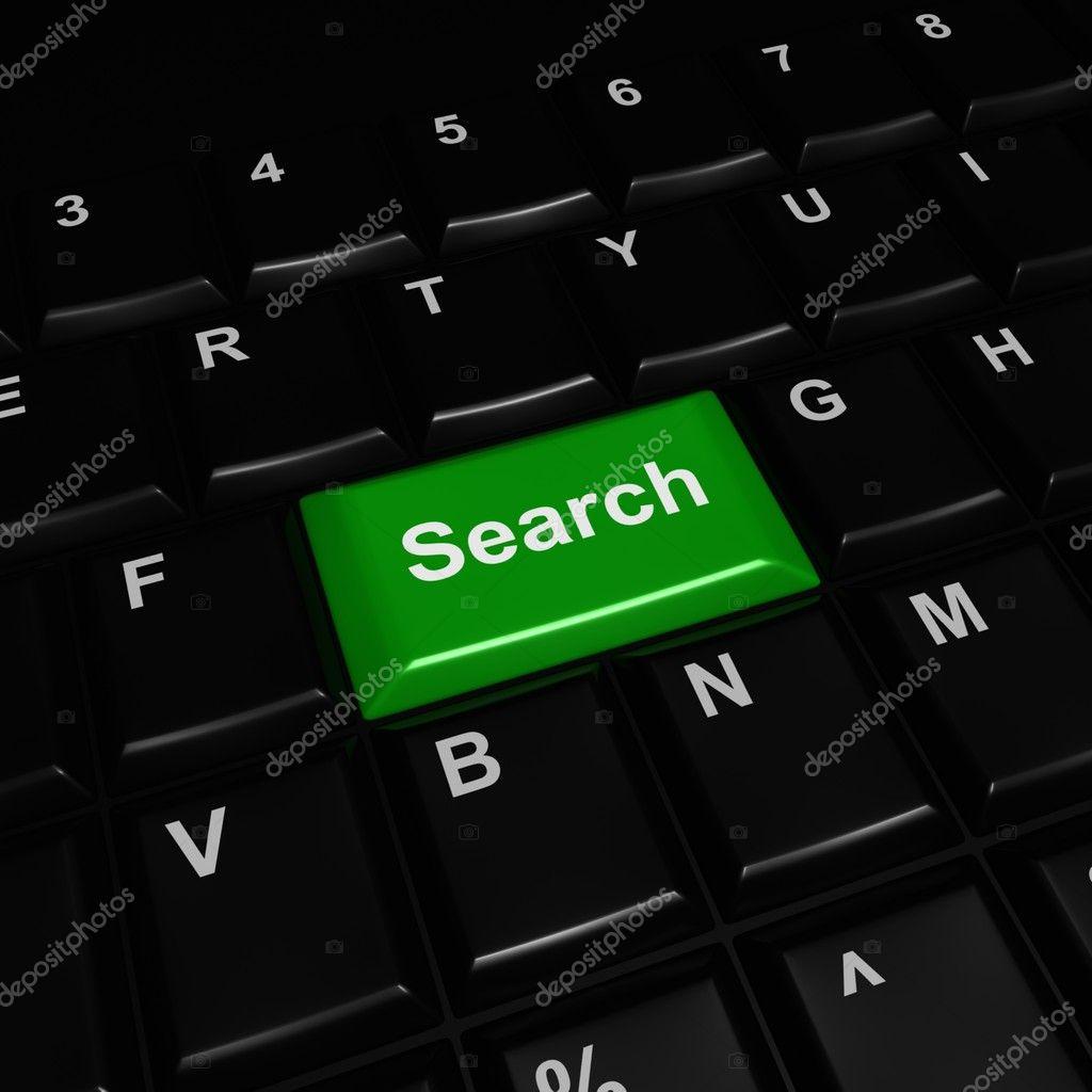 Green Plastic Search Button