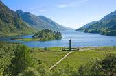 Památník jakobitů, glenfinnan, Vysočina, Skotsko
