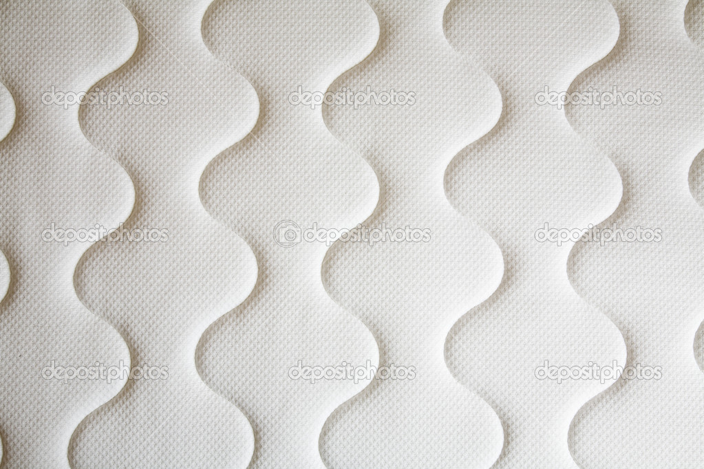 Brand New Clean Spring Mattress Surface Stock Photo