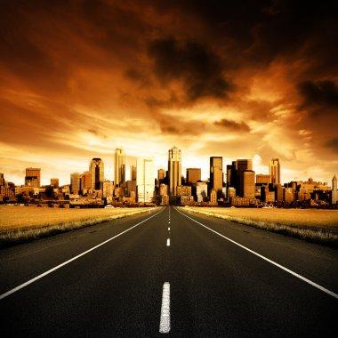 """Картина, постер, плакат, фотообои """"городское шоссе"""", артикул 4436193"""