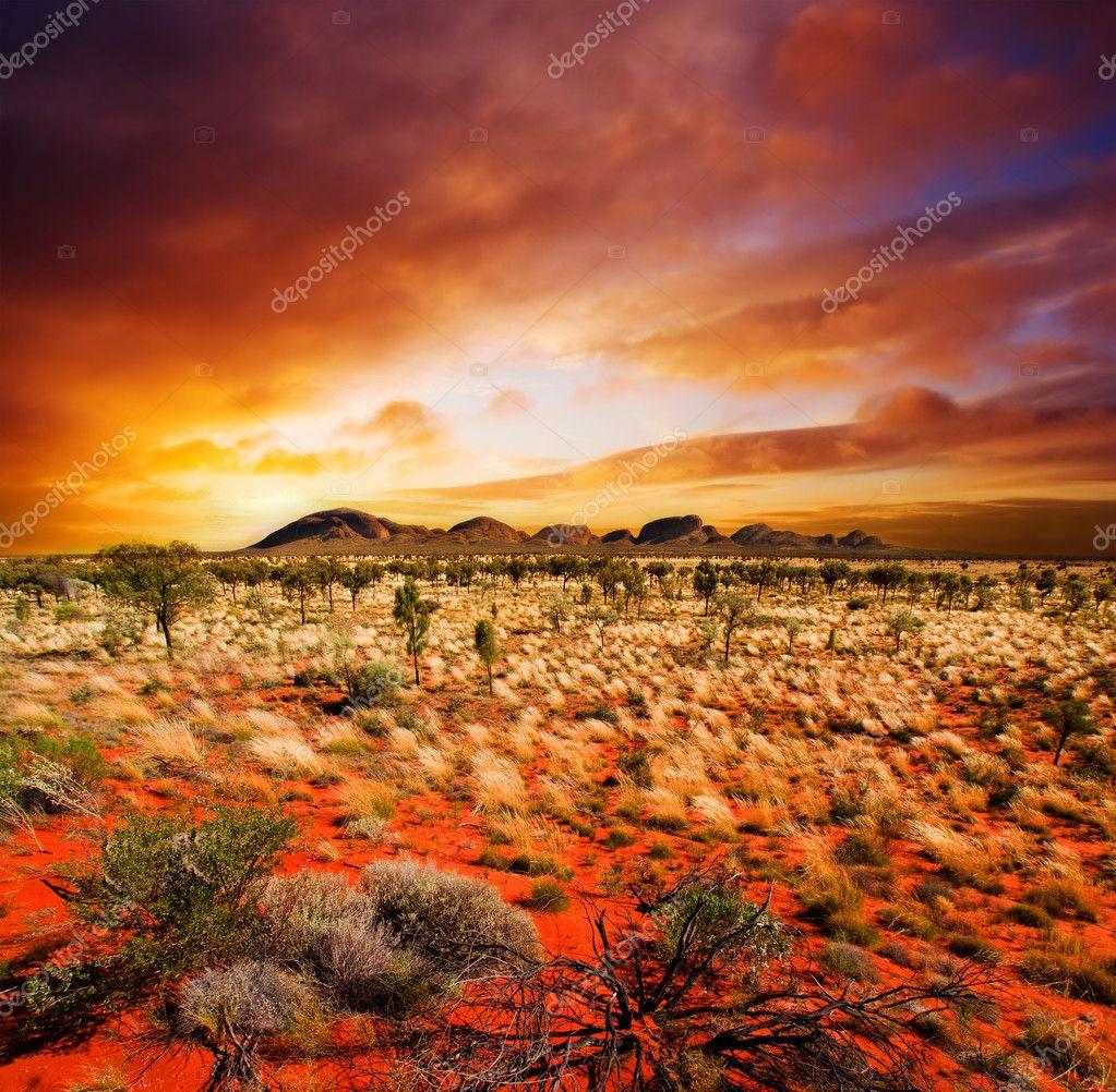 Фотообои Sunset Desert Beauty