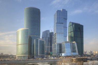 Moscow modern architecture and office buildings.