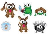 Fotografia simpatici animali, illustrazione 3d di animali domestici, animale domestico vettoriale