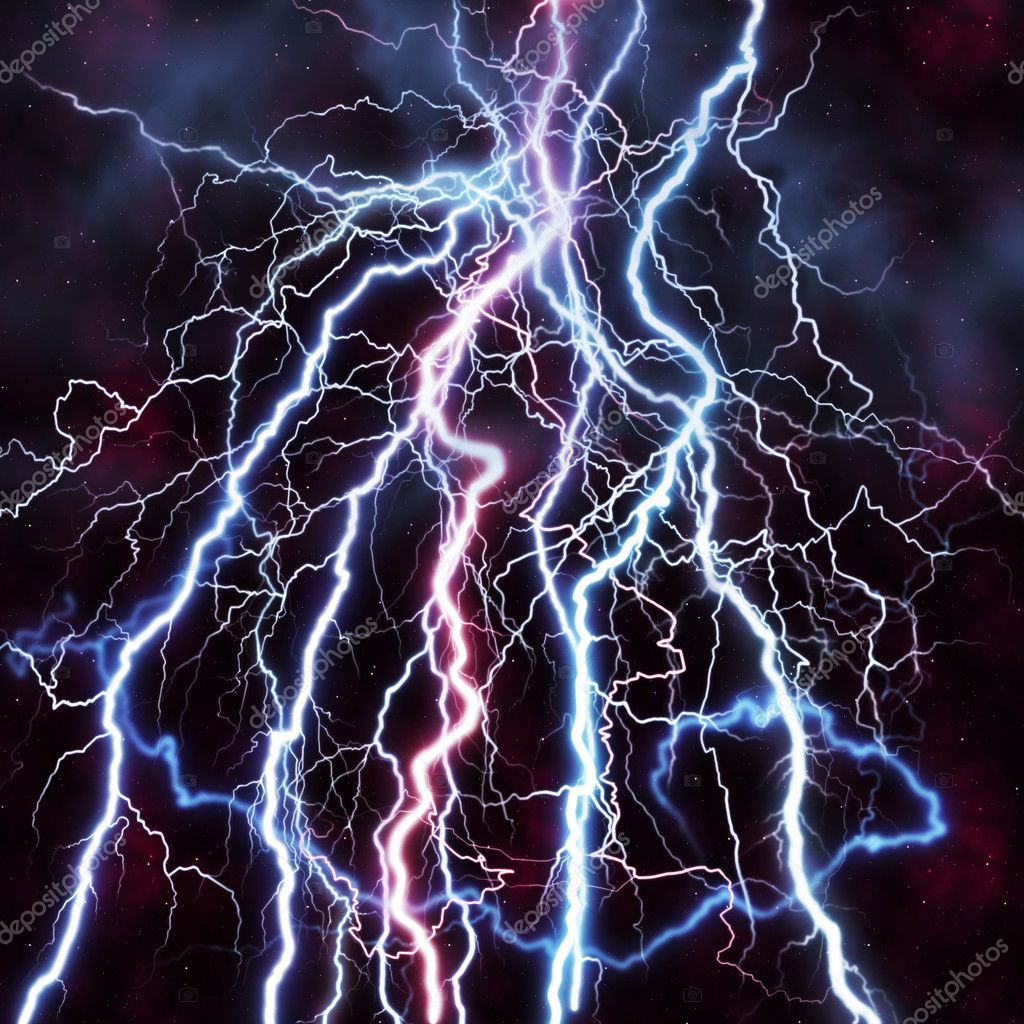 BACKGROUND WITH LIGHTNING