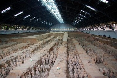 Terracotta Army in Xian, China.