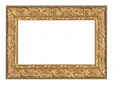 Golden frame with ornament