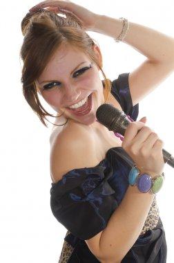 Cute girl singing