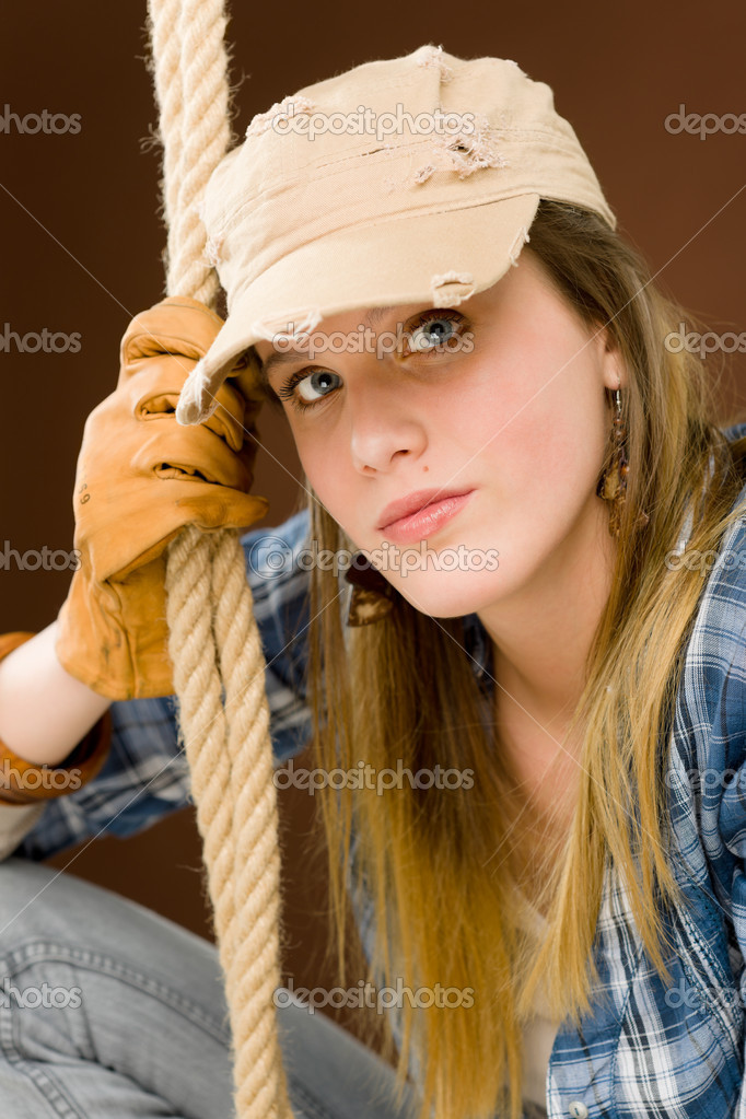 Fashion Model Young Woman Country Style Stock Photo Candyboximages 5193936