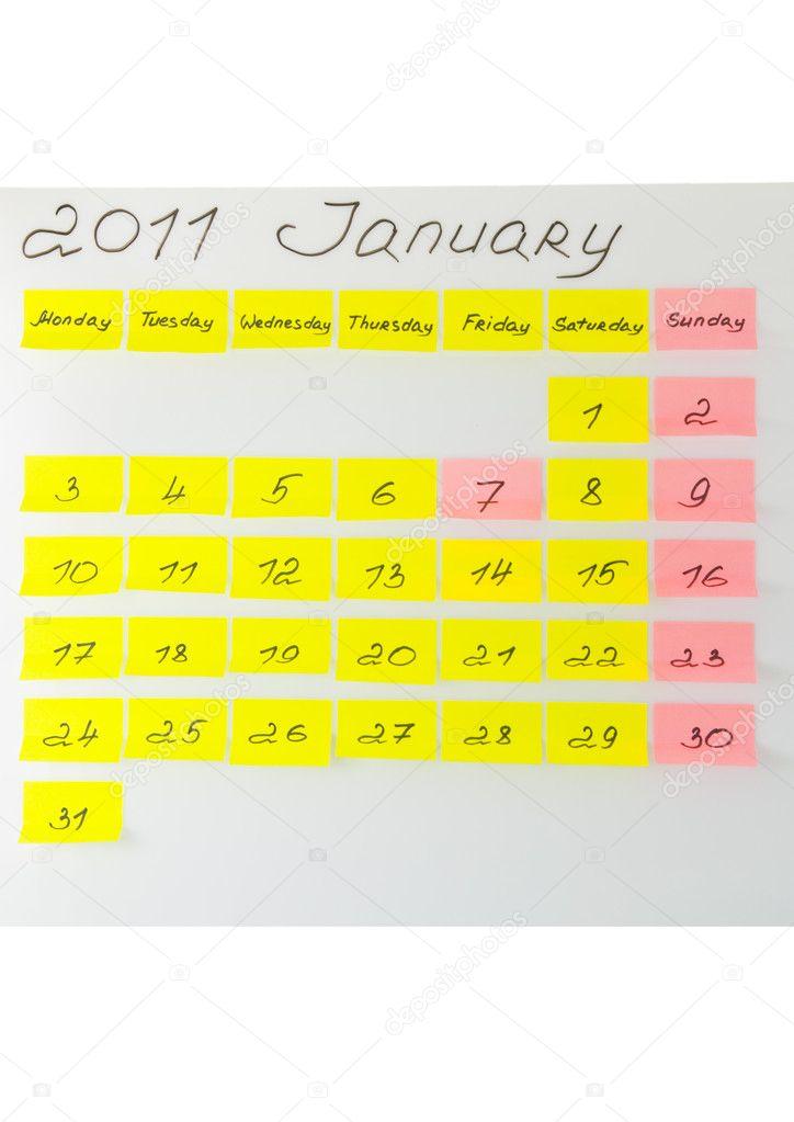 calendario occupato datazione