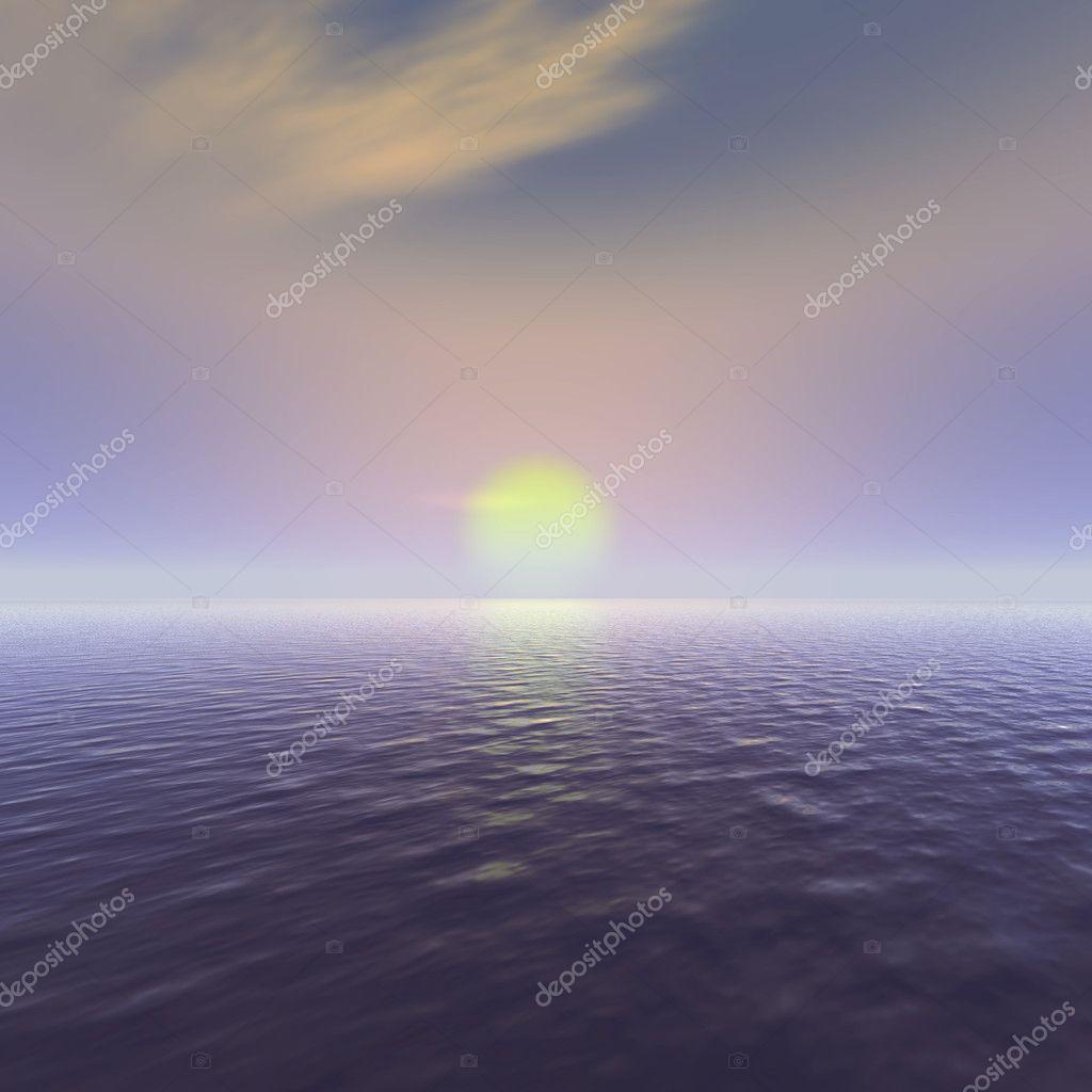 Sun rise ocean view