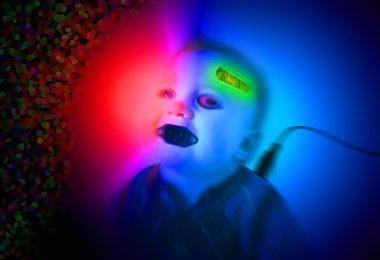 Cyborg bionic robot child