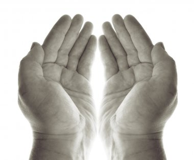 Hands pray