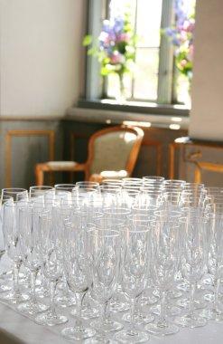 Champagne glasses reception