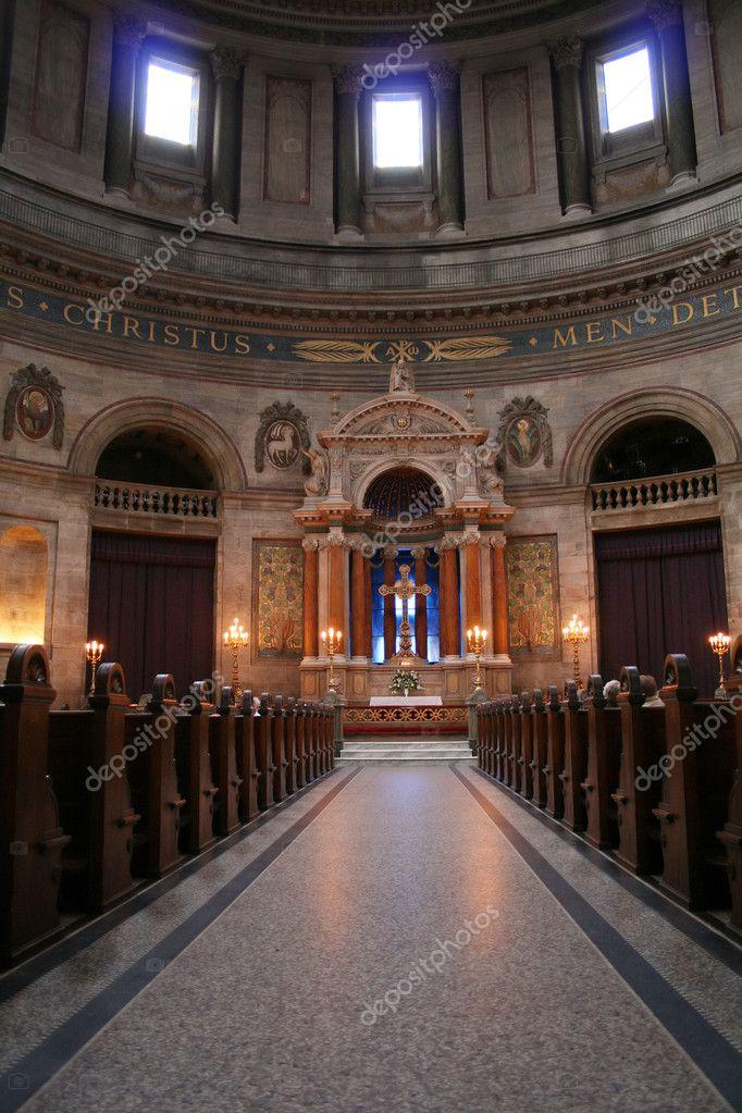 kerk marmeren Kopenhagen interieur — Stockfoto © tlorna #4501232