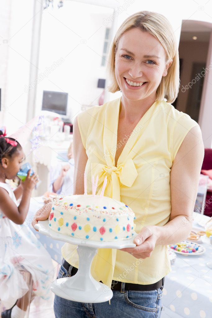 Sexy Woman With Birthday Cake