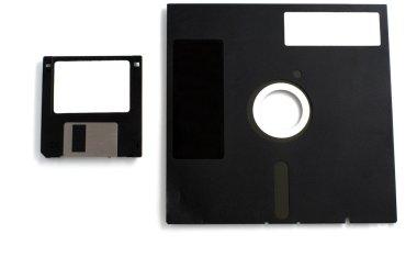 Two black floppies