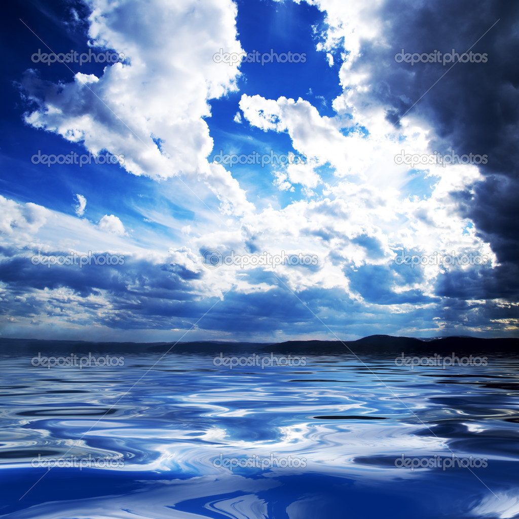 Clouds and water