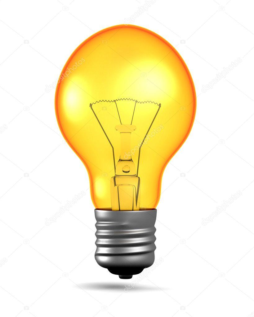 leuchtende gl hbirne stockfoto 3dbobber 4489964. Black Bedroom Furniture Sets. Home Design Ideas