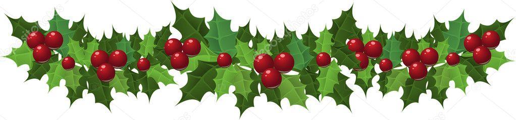 decoracin navidad guirnalda de acebo ilustracin vectorial vector de yuzach - Guirnalda Navidad