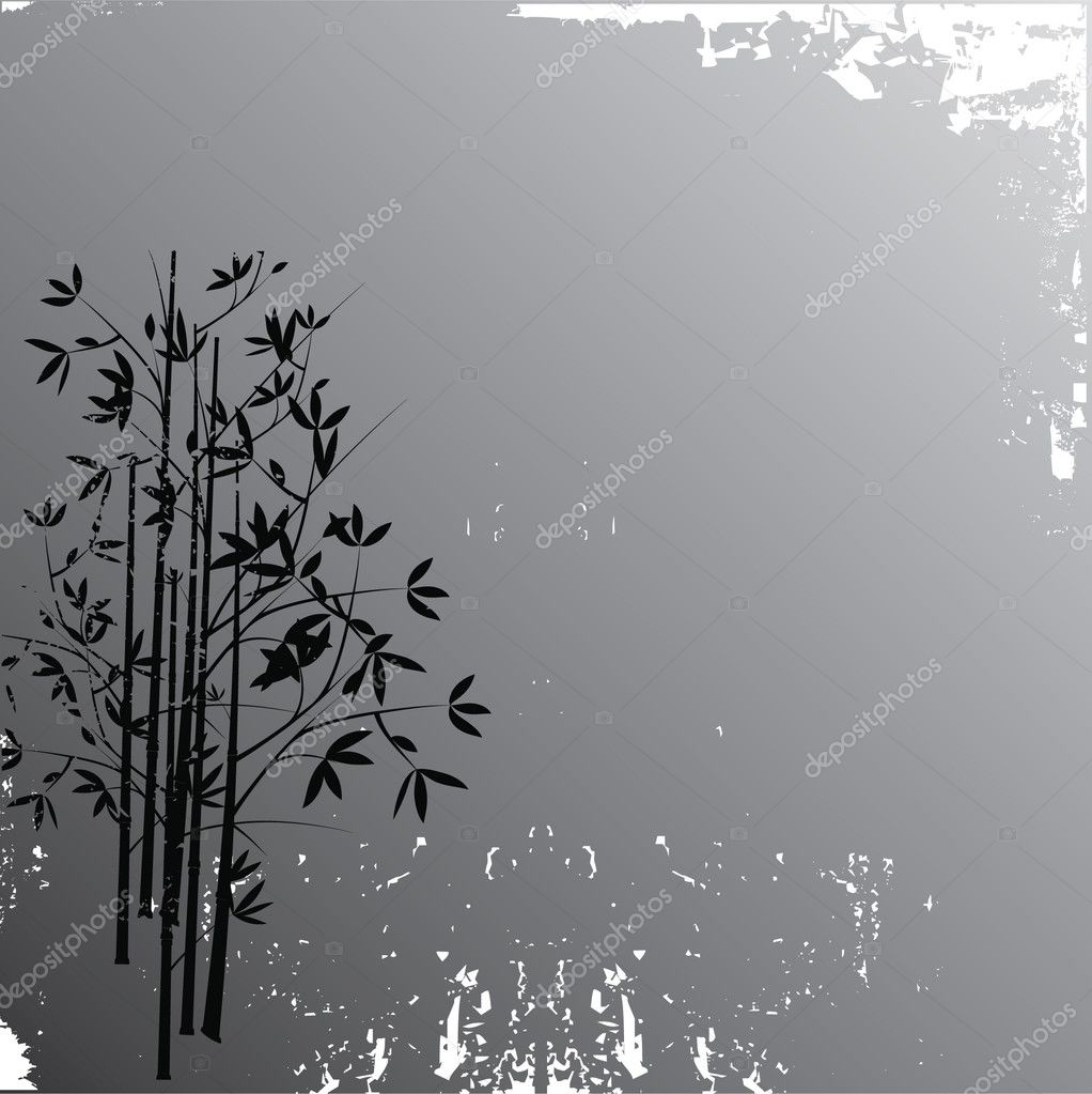 Bamboo grunge background, vector illustration