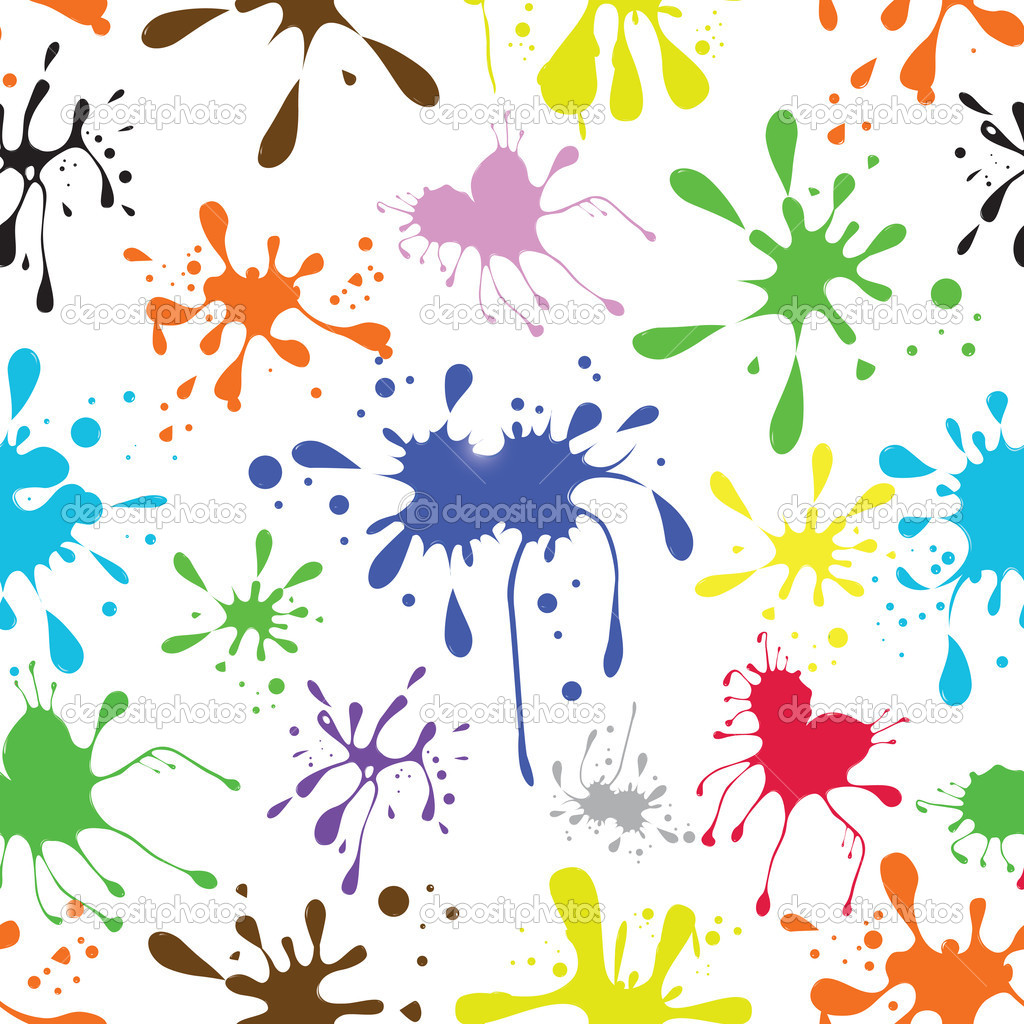 Seamless vector background ink coloured grungy blot
