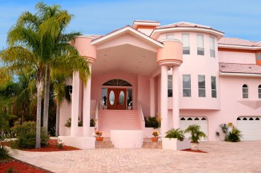 Waterfront modern mansion