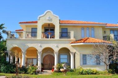Spanish-mediterranean style waterfront home