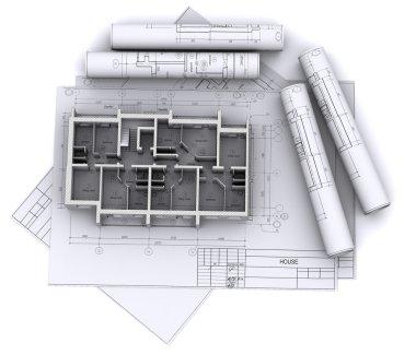 Built walls of a house
