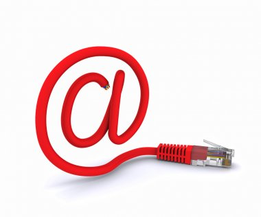 Sign e-mail made of a network cable