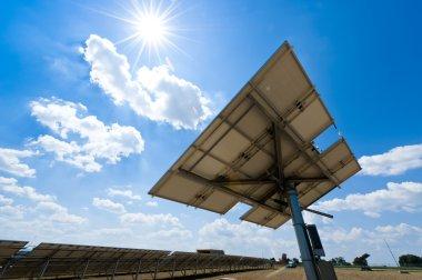 Solar Station against the Sun