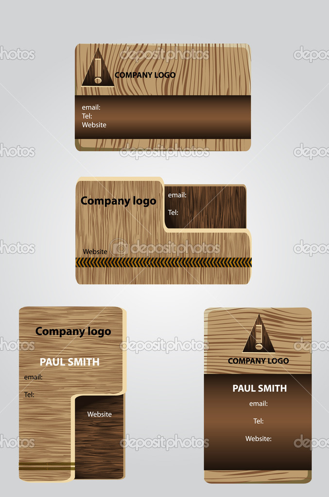 WOODEN BUSINESS CARDS — Stock Vector © Hotpindesigns #4578783