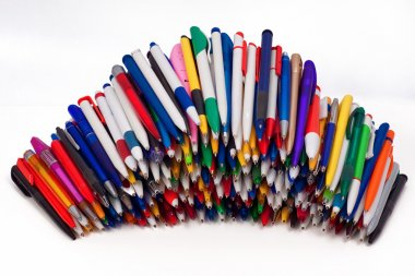 Ball pens,Objects over white