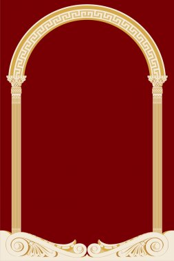 Illustration of an ancient arch